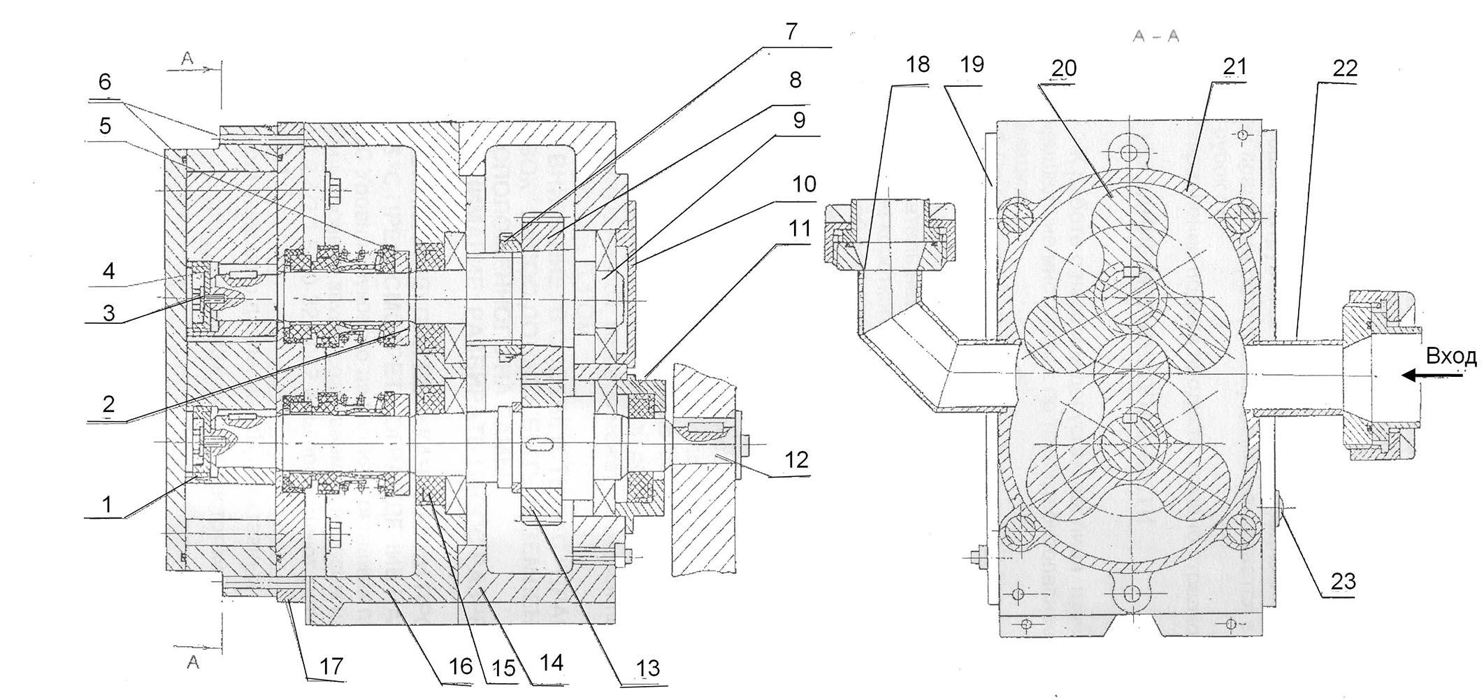 роторный насос В3-ОРА-А10, НР-10